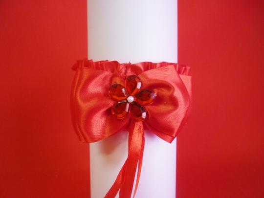 Подвязка №5 красная