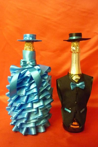 Костюм на шампанское №20 морская волна (1пара)