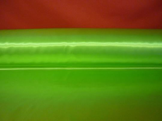 Атлас ярко-салатовый ширина 1,5м длина 100м