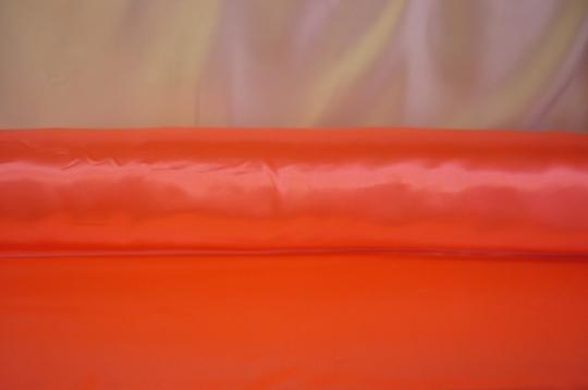 Атлас ярко-оранжевый ширина 1,5м длина 100м