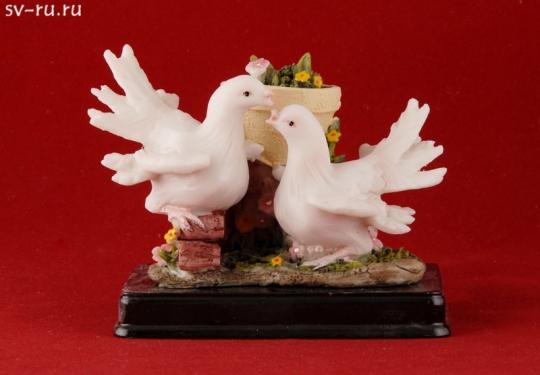 Пара голубей в цветах MR-33667
