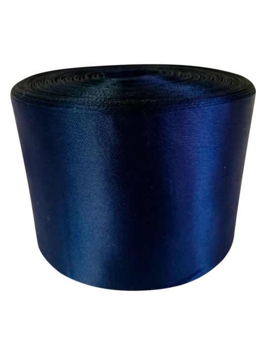 Лента атлас 10см/100м тёмно-синий