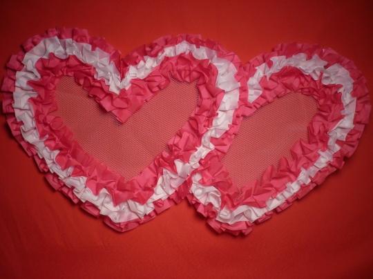 Сердца №5 п/э бело-розовые