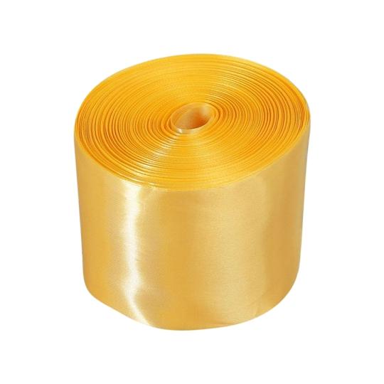 Лента атлас 10см/98м золото светлое
