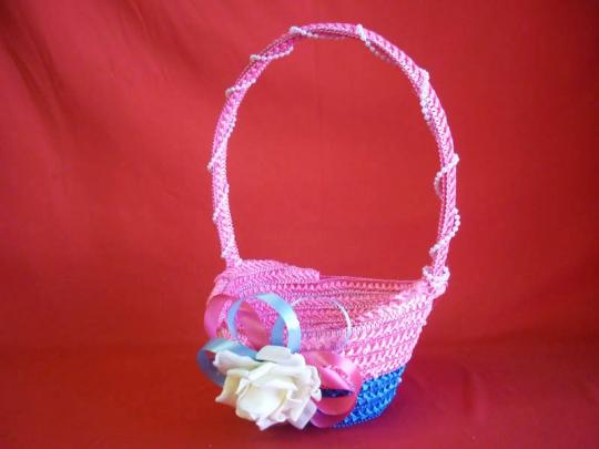 Корзинка для лепестков роз Лоза розово-голубая