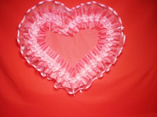 Сердце №10/5 п/э розовое