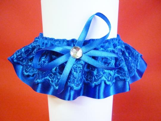 Подвязка №4 синяя