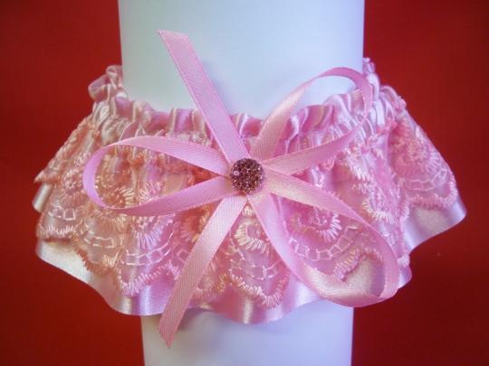 Подвязка №4 розовая