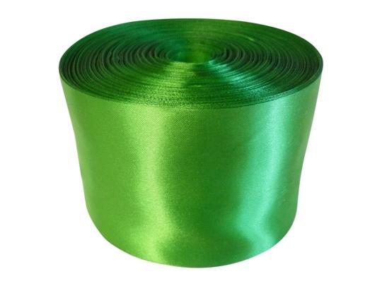 Лента атлас 10см/100м светло-зелёная