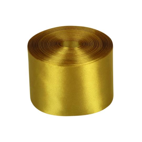 Лента атлас 10см/98м бронза