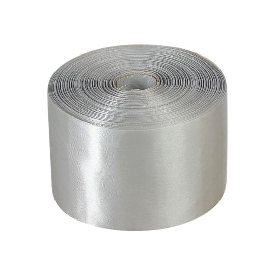 Лента атлас 10см/100м серебро