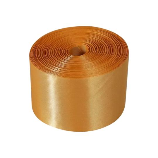 Лента атлас 10см/98м золото