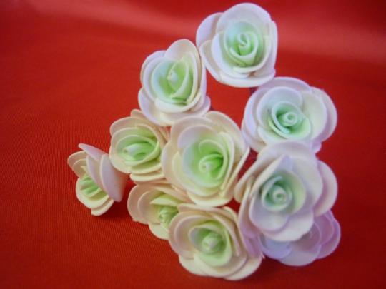 Цв. на шпильке роза (уп.10шт) (бел-тиффани)