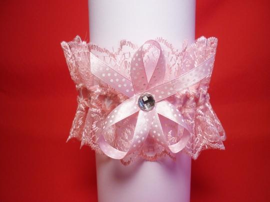 Подвязка №3 розовая