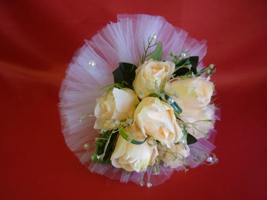 Букет для невесты Роза жемчуг персик