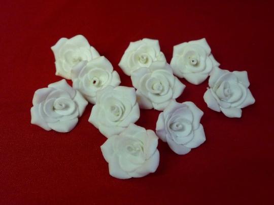 Роза №2, 3см белая (10шт)