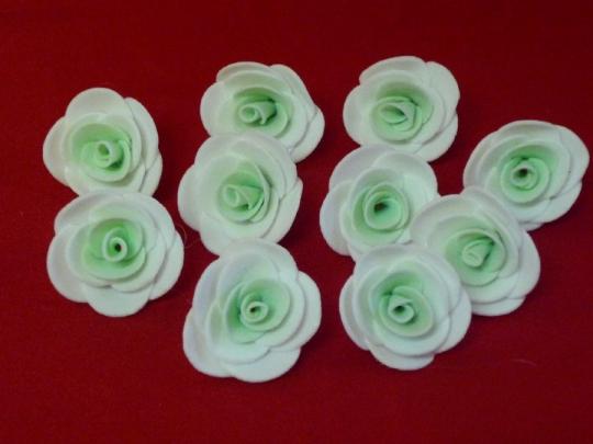 Роза 3см бело-тиффани (10шт)