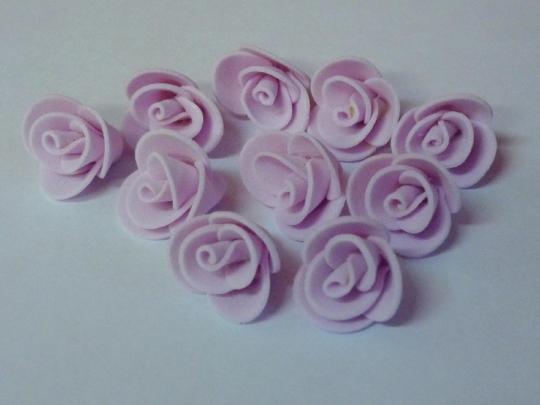 Роза 2см розовая (10шт)