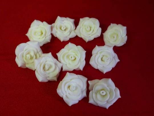 Роза №2, 3см айвори (10шт)