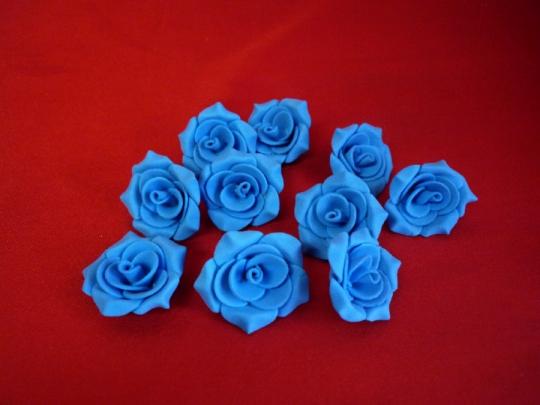 Роза №2, 3см голубая (10шт)