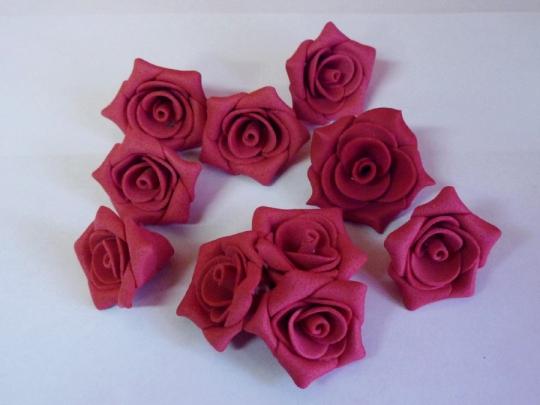 Роза №2, 3см красная (10шт)