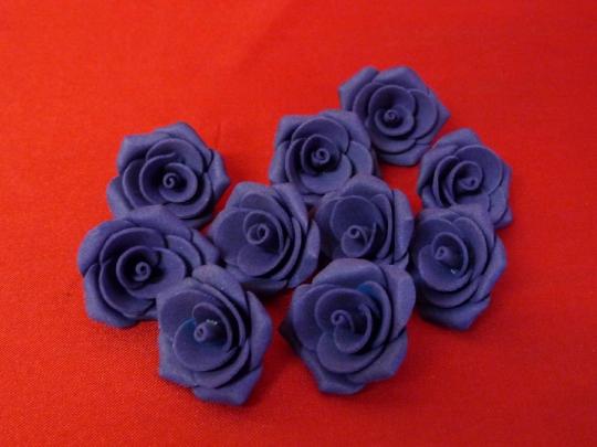 Роза №2, 3см фиолетовая (10шт)
