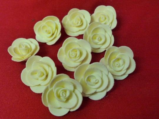 Роза 4см айвори (10шт)