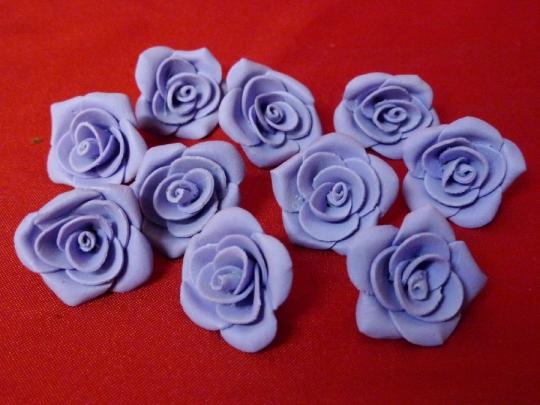 Роза 4см сиреневая (10шт)