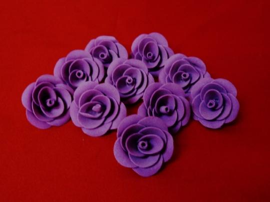 Роза 4см фиолетовая (10шт)