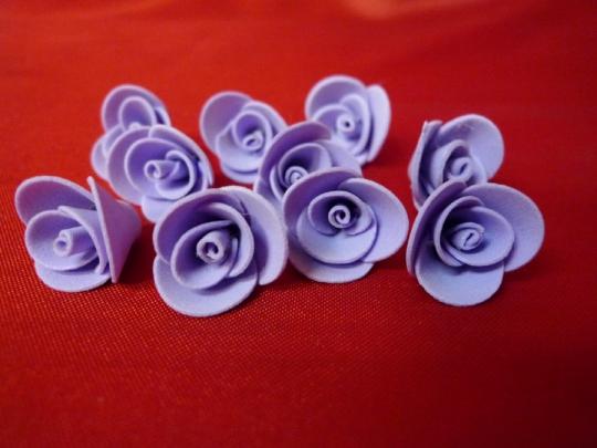 Роза 1,5см сиреневая (10шт)