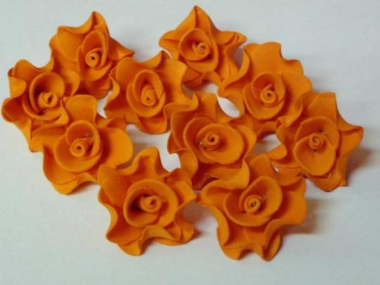 Лилия 2,5см оранжевая (10шт)