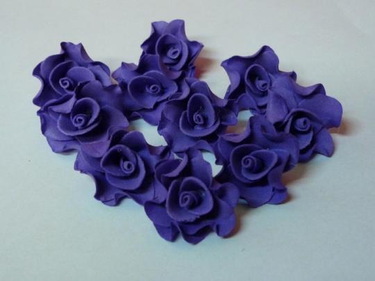 Лилия 2,5см синяя (10шт)