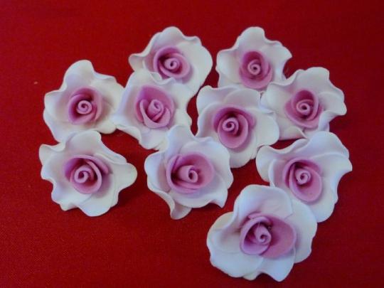 Лилия 2.5см бело-розовая (10шт)