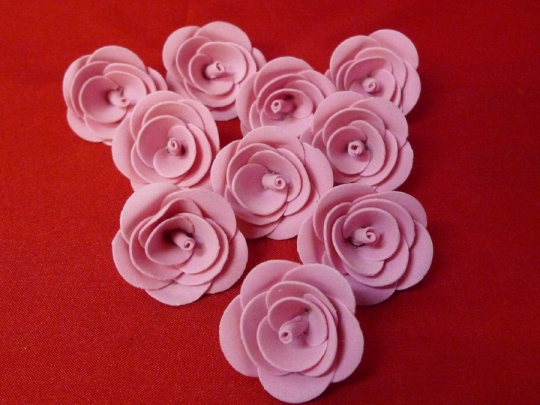 Роза 4см розовая (10шт)