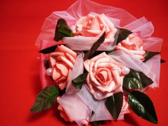 Букет Роза латекс розовый