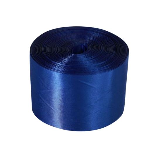 Лента атлас 10см/100м синяя