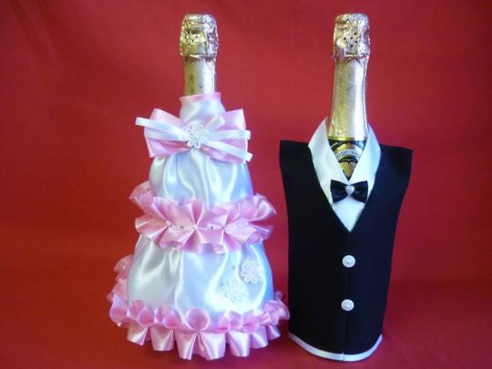 Костюм на шампанское №2 бело-розовый (5шт)