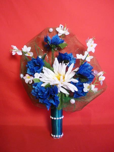 Букет для невесты №2 бело-синий
