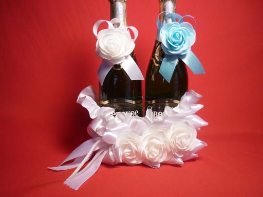 Корзина для шампанского Роза белая