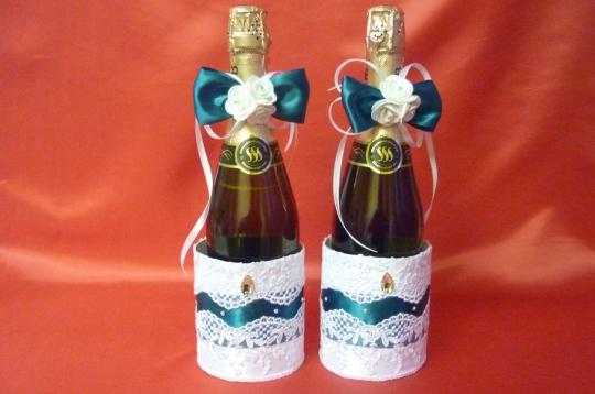 Украшение для шампанского Аэлита  зел-бел