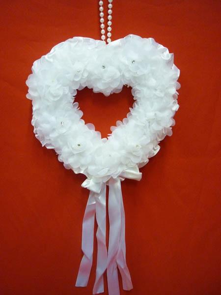 Декорация Сердце бел. ZG-24430 25*7*27см
