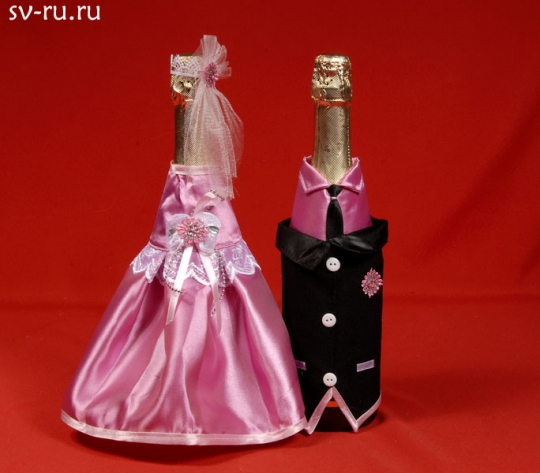 Костюм на шампанское №11 розовый (5пар)