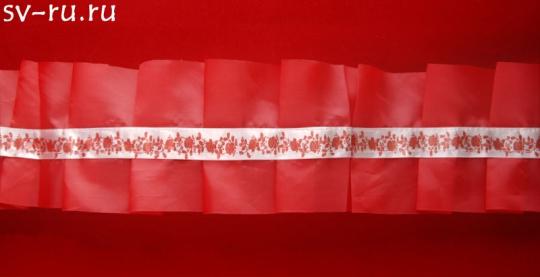Рюшь на а/м упаковка 5 штук (красная)