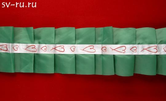 Рюшь на а/м упаковка 5 штук (зеленая)