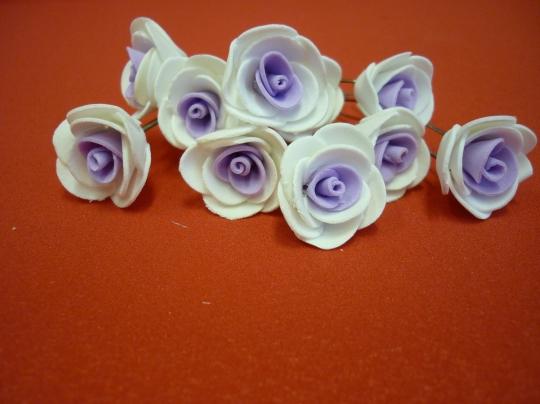 Цв. на шпильке роза (уп.10шт) (бел-сирен)