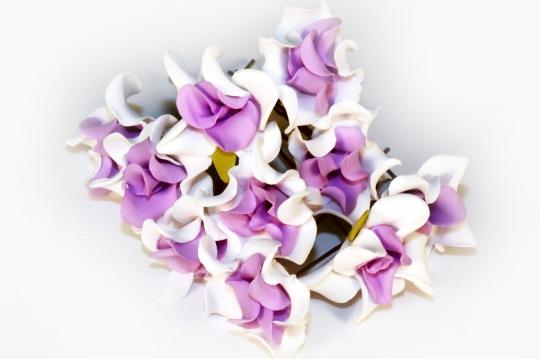 Цв. на шпильке лилия (уп.10шт) (бел-сирен)