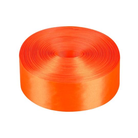 Лента атлас 5см/100м оранжевая