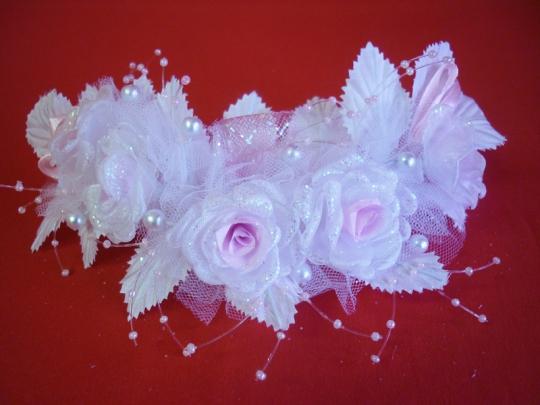 Веночек бело-розовый №5