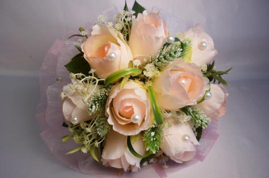 Букет для невесты Роза жемчуг розов