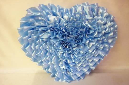 Сердце атлас голубое